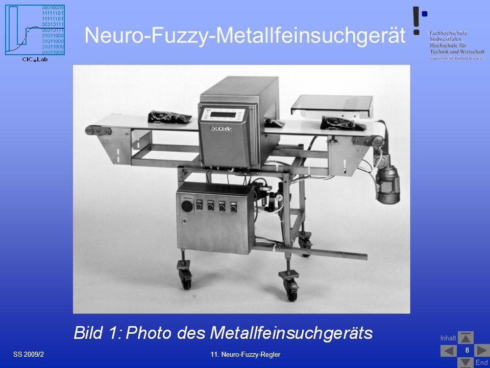 Inhalt End Neuro-Fuzzy-Metallfeinsuchgerät 8 11. Neuro-Fuzzy-ReglerSS 2009/2