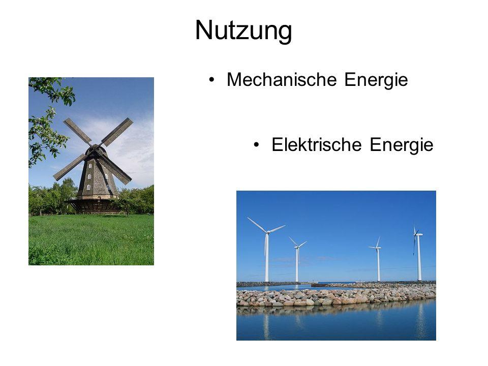 Nutzung Mechanische Energie Elektrische Energie