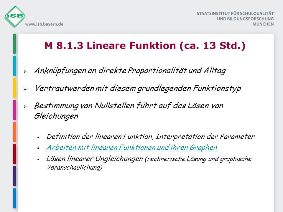 M 8.1.3 Lineare Funktion (ca.