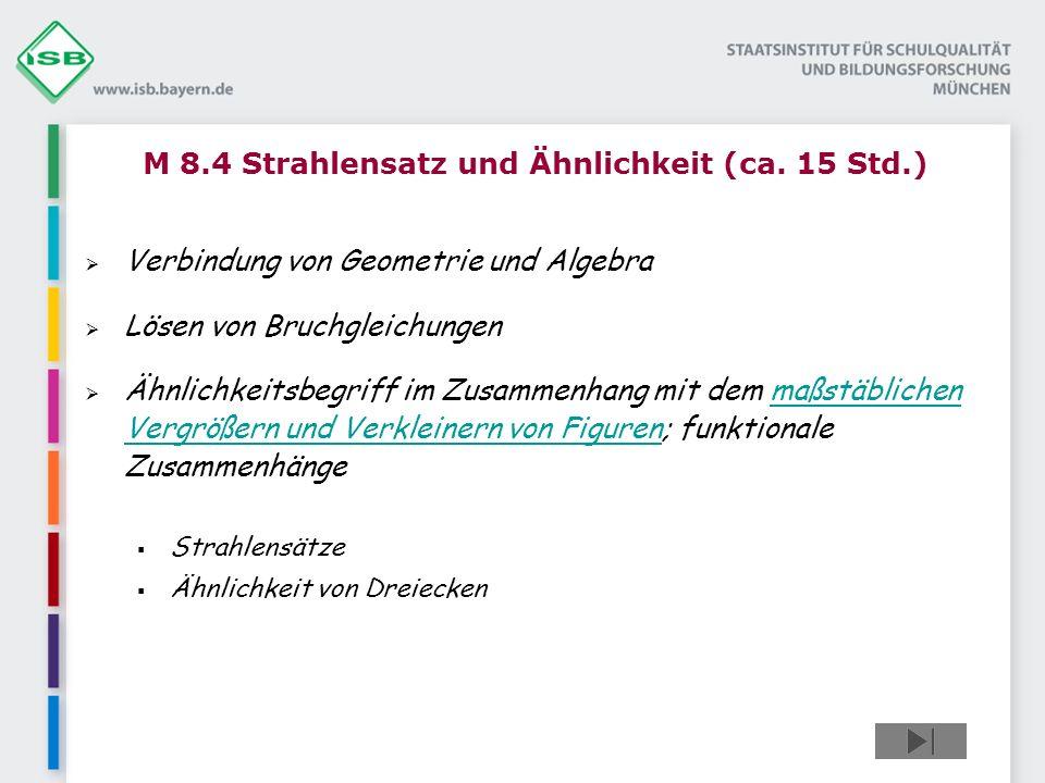 M 8.4 Strahlensatz und Ähnlichkeit (ca.