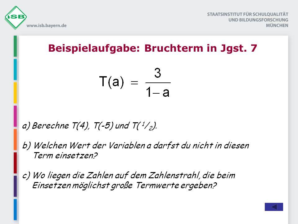 a) Berechne T(4), T(-5) und T( 1 / 2 ).