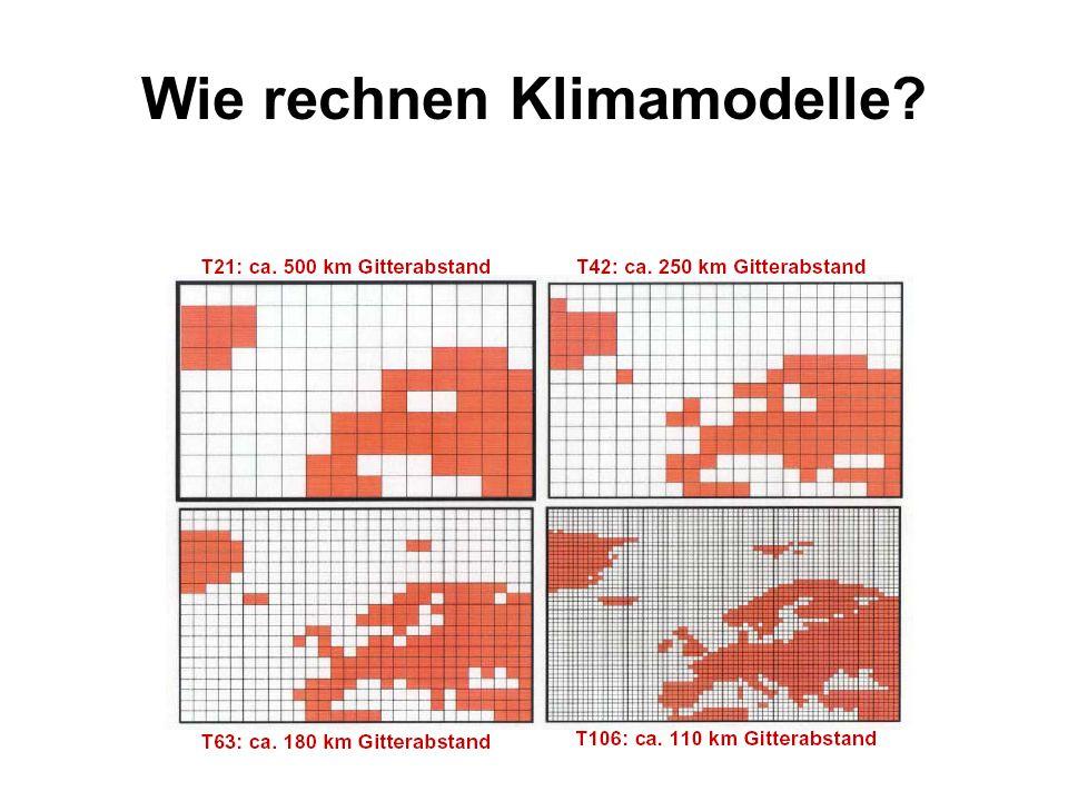 Wie rechnen Klimamodelle?