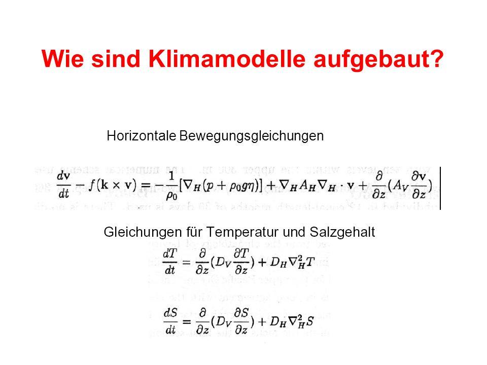 Wie sind Klimamodelle aufgebaut? Horizontale Bewegungsgleichungen