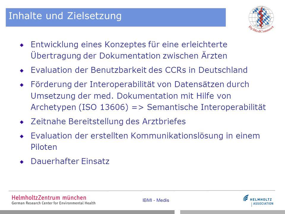 IBMI - Medis AP2 Anwendungszenarien und Datenelemente Vorstellung der Szenarien (Hr.