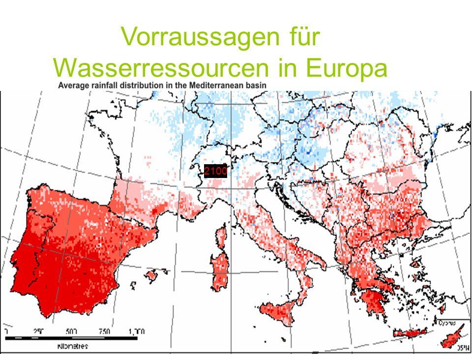 2003 2100 Vorraussagen für Wasserressourcen in Europa