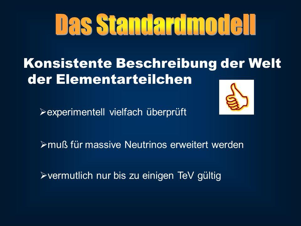 Neutrinos haben Masse .( Experimente ) Masse durch Higgsmechanismus erzeugt .