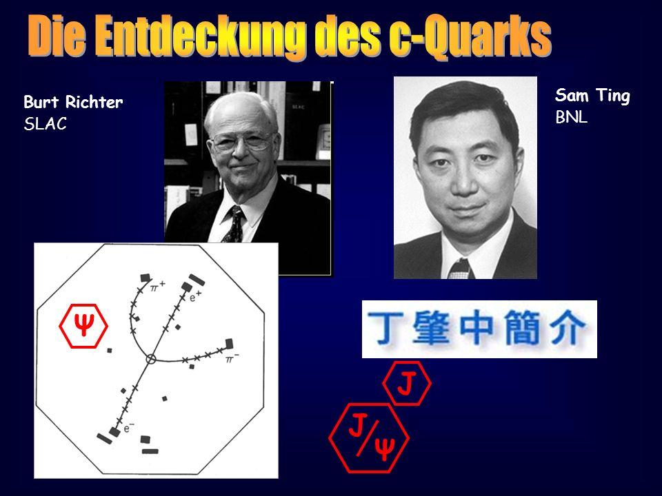 Burt Richter SLAC Sam Ting BNL Ψ J Ψ J