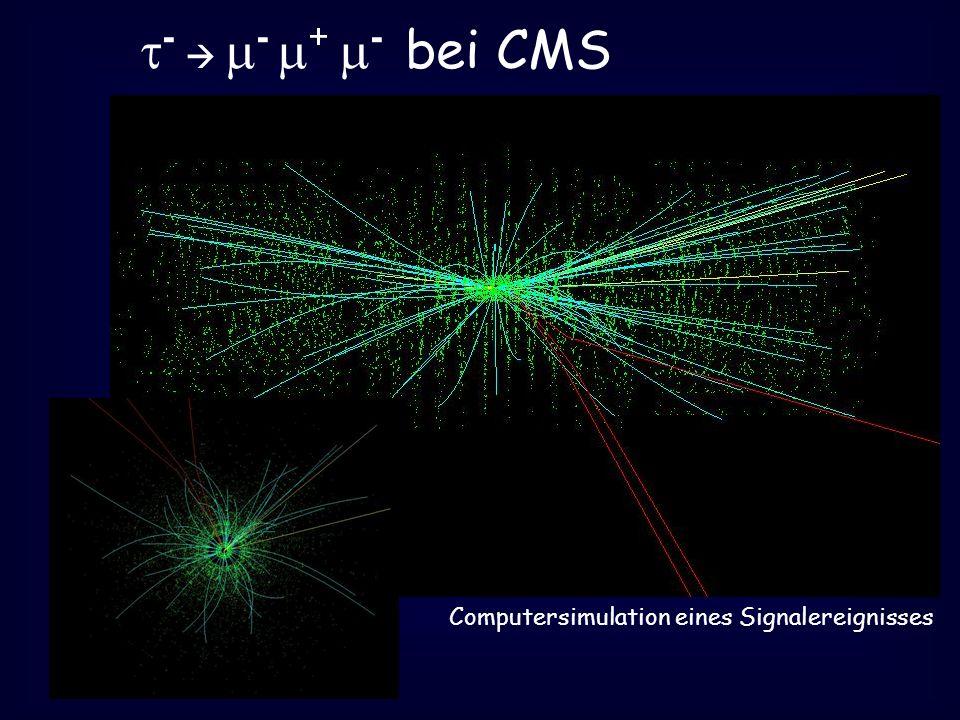 - - + - bei CMS Computersimulation eines Signalereignisses