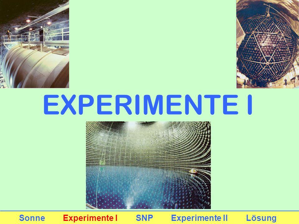 EXPERIMENTE I Sonne Experimente I SNP Experimente II Lösung