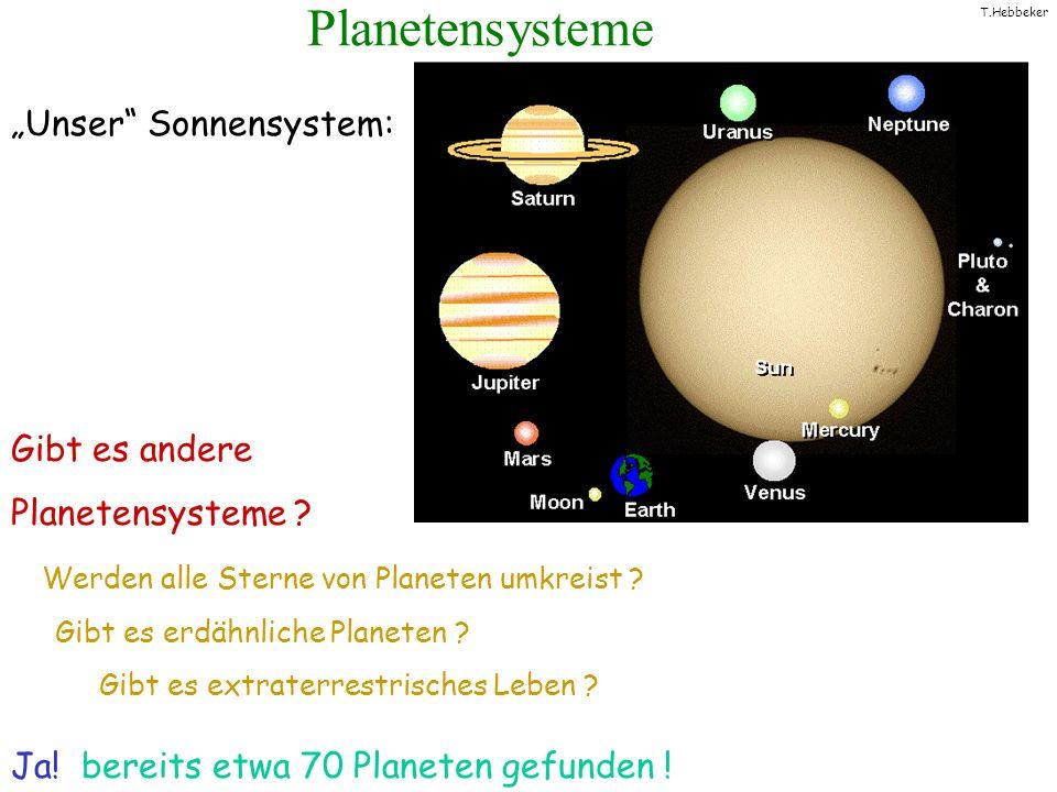 T.Hebbeker Planetensysteme Gibt es andere Planetensysteme ? Werden alle Sterne von Planeten umkreist ? Gibt es erdähnliche Planeten ? Gibt es extrater