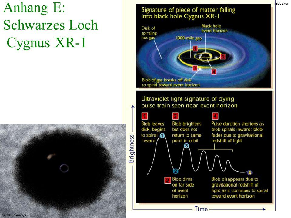 T.Hebbeker Anhang E: Schwarzes Loch Cygnus XR-1