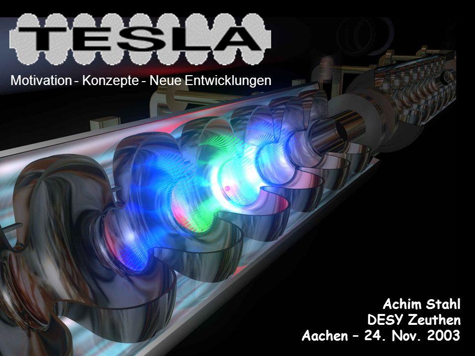 Das TESLA Projekt Űberblick Stand der Technik Physik mit TESLA Beispiele Polarisation bei TESLA Ziele Realisierung Status Inhalt