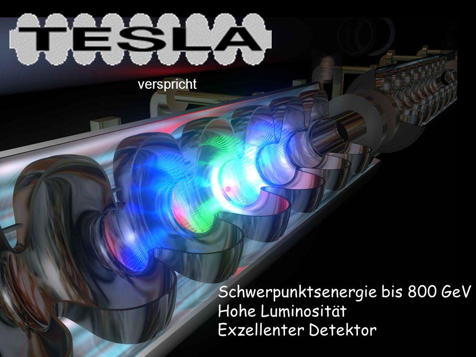 verspricht Schwerpunktsenergie bis 800 GeV Hohe Luminosität Exzellenter Detektor