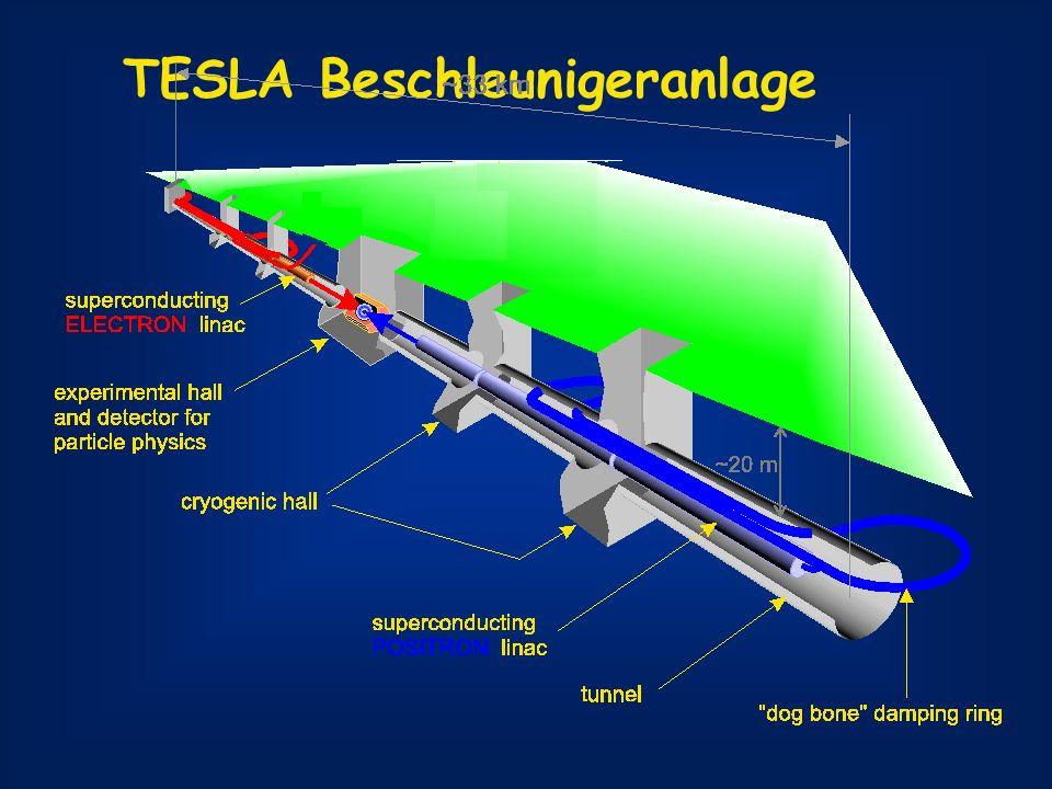 LHC + TESLA brauchen einander: LHC: Massendifferenzen starke Korrelationen TESLA liefert Massenskala LHCLHC + TESLA g 8.06.4 qLqL 8.74.9 qRqR 11.810.9 b1b1 7.55.7 b2b2 7.96.3 ~ ~ ~ ~ ~