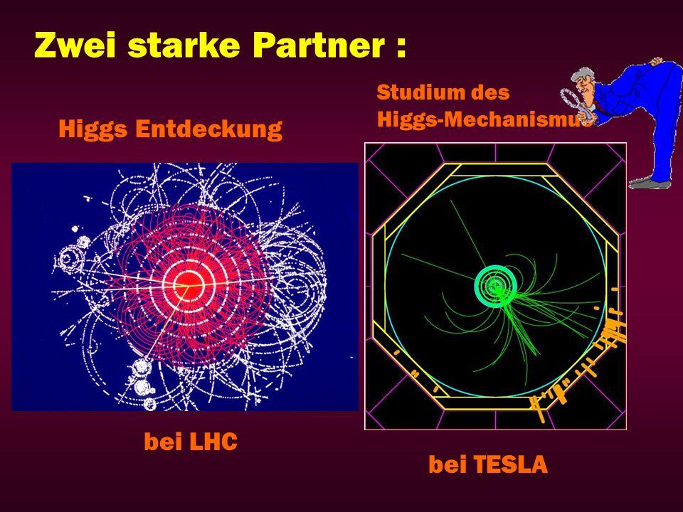 Zwei starke Partner : Higgs Entdeckung Studium des Higgs-Mechanismus bei LHC bei TESLA