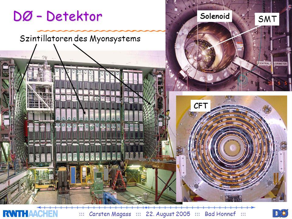 Solenoid DØ – Detektor Szintillatoren des Myonsystems SMT CFT