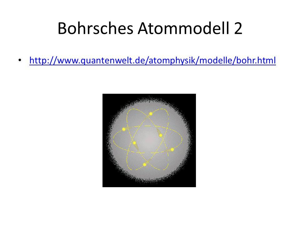 Bohrsches Atommodell 2 http://www.quantenwelt.de/atomphysik/modelle/bohr.html