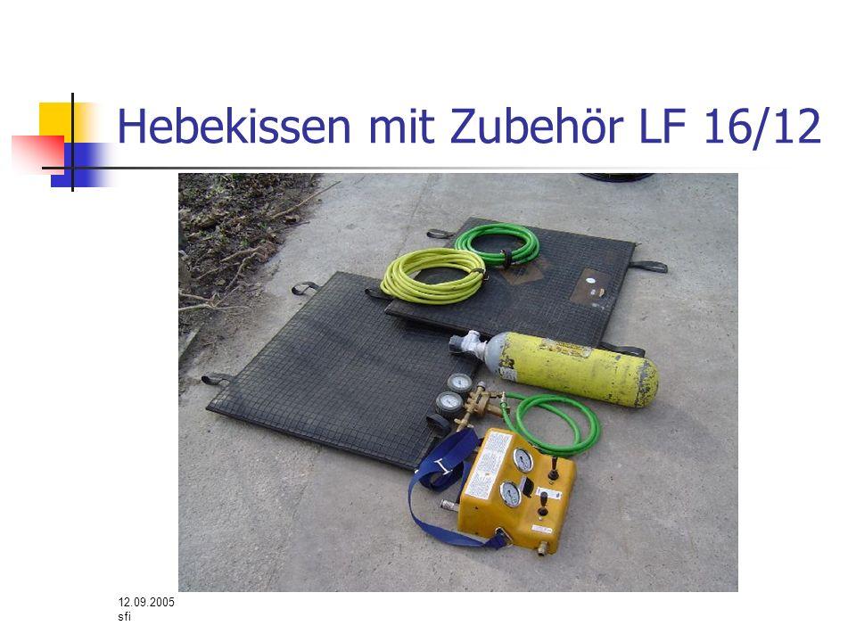 12.09.2005 sfi Hebekissen mit Zubehör LF 16/12