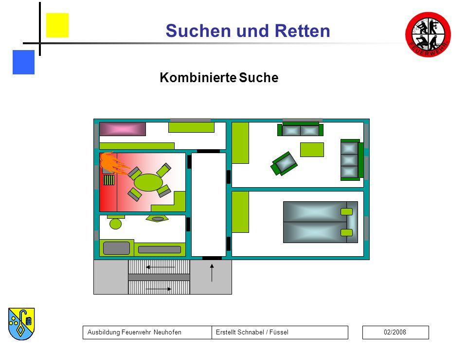 Suchen und Retten Ausbildung Feuerwehr NeuhofenErstellt Schnabel / Füssel02/2008 Kombinierte Suche