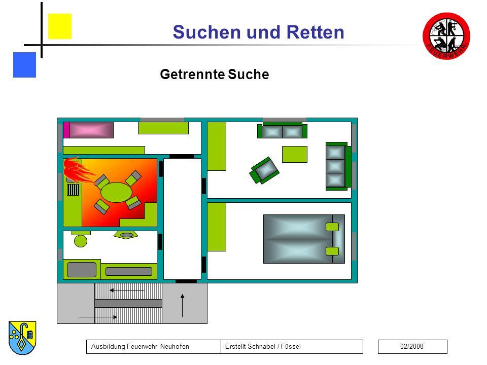 Suchen und Retten Ausbildung Feuerwehr NeuhofenErstellt Schnabel / Füssel02/2008 Getrennte Suche