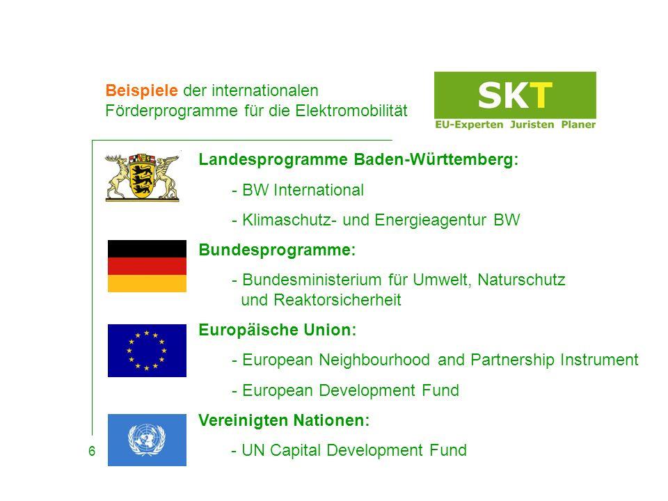 Beispiele der internationalen Förderprogramme für die Elektromobilität Vorgehen: 1.) Ausgeschriebene Themenstellung 2.) Ihre Teilnahme 3.) Formalen Kriterien & evt.