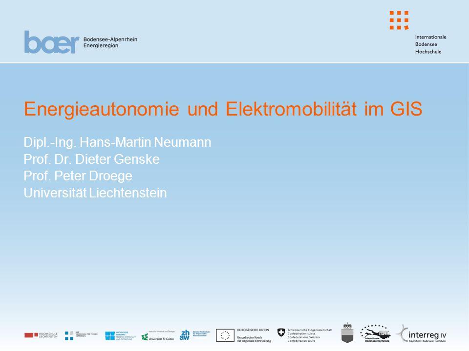 Energieautonomie und Elektromobilität im GIS Dipl.-Ing.