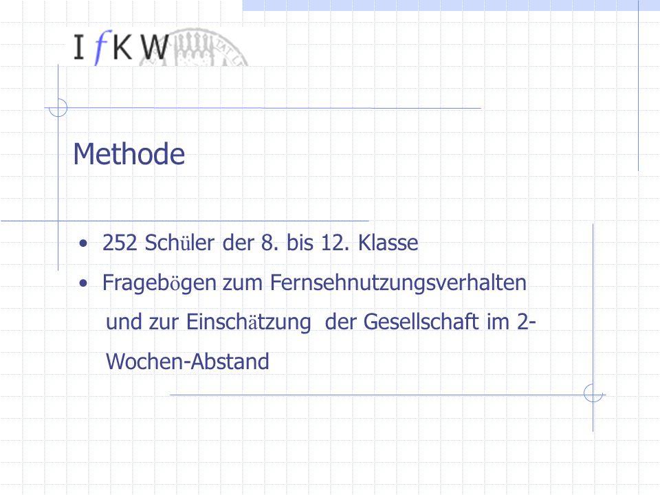 Methode 252 Sch ü ler der 8. bis 12.