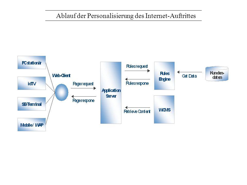 Ablauf der Personalisierung des Internet-Auftrittes