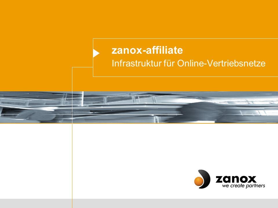 zanox-affiliate Infrastruktur für Online-Vertriebsnetze
