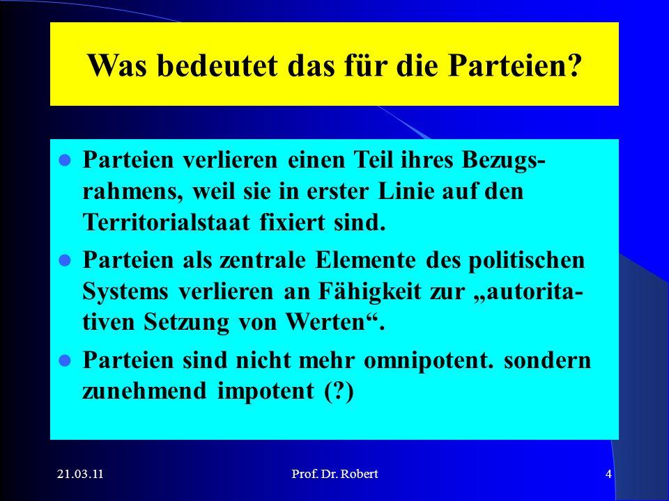 21.03.11Prof. Dr. Robert4 Was bedeutet das für die Parteien.