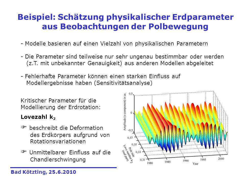 - Modelle basieren auf einen Vielzahl von physikalischen Parametern - Die Parameter sind teilweise nur sehr ungenau bestimmbar oder werden (z.T. mit u
