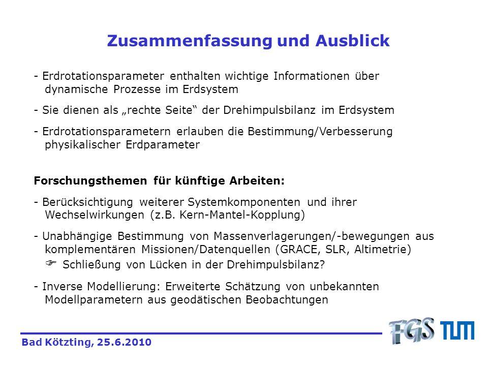 Zusammenfassung und Ausblick Forschungsthemen für künftige Arbeiten: - Berücksichtigung weiterer Systemkomponenten und ihrer Wechselwirkungen (z.B. Ke