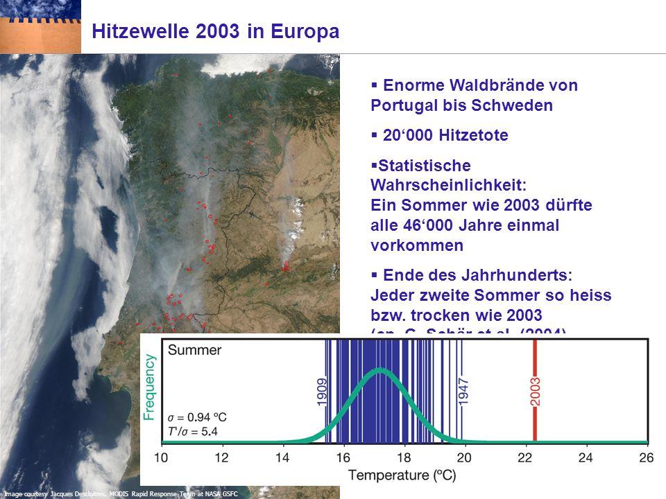 Klimaextreme: der Jahrhundertsommer 2003 in Europa 29. August 2003; Alpensüdseite & Mittelland 13. August 2003; Wallis Quelle: NZZ online, Bilder des
