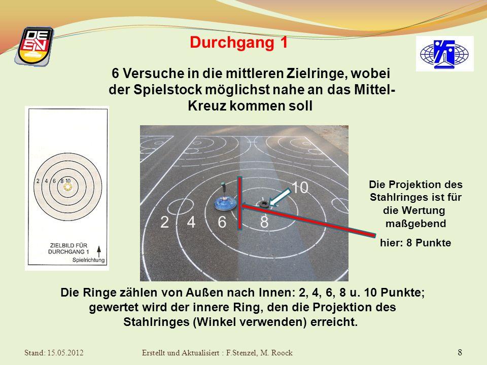 7Zielwettbewerb Allgemeines - Zielstöcke Pro Bahn darf nur ein Zielstock verwendet werden. Für alle Zielstöcke müssen gleiche Stockkörper (nur Typ L)
