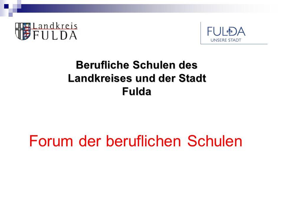 Berufliche Schulen des Landkreises und der Stadt Fulda Welche Fachrichtungen gibt es?