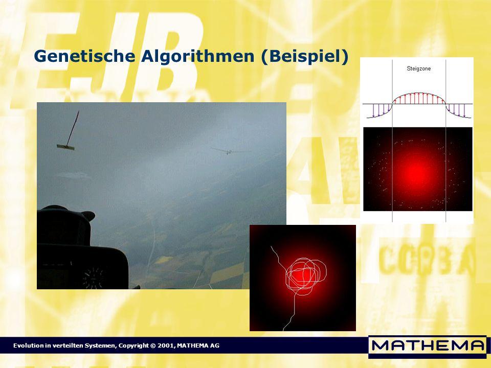 Evolution in verteilten Systemen, Copyright © 2001, MATHEMA AG Genetische Algorithmen (Beispiel)
