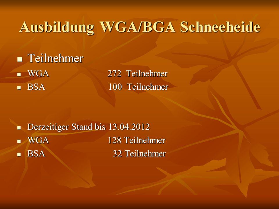 Ausbildung WGA/BGA Schneeheide Ausbildungstermine Die freien Ausbildungstermine kann man auf der Internetseite www.feuerwehr-heidekreis.de ersehen.