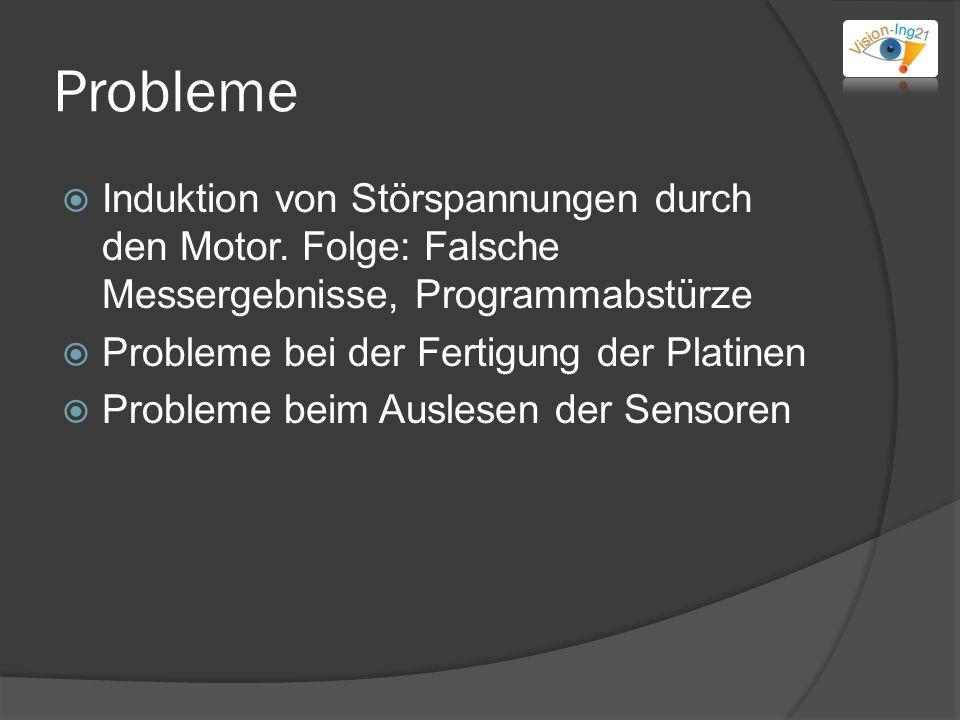 Probleme Induktion von Störspannungen durch den Motor.