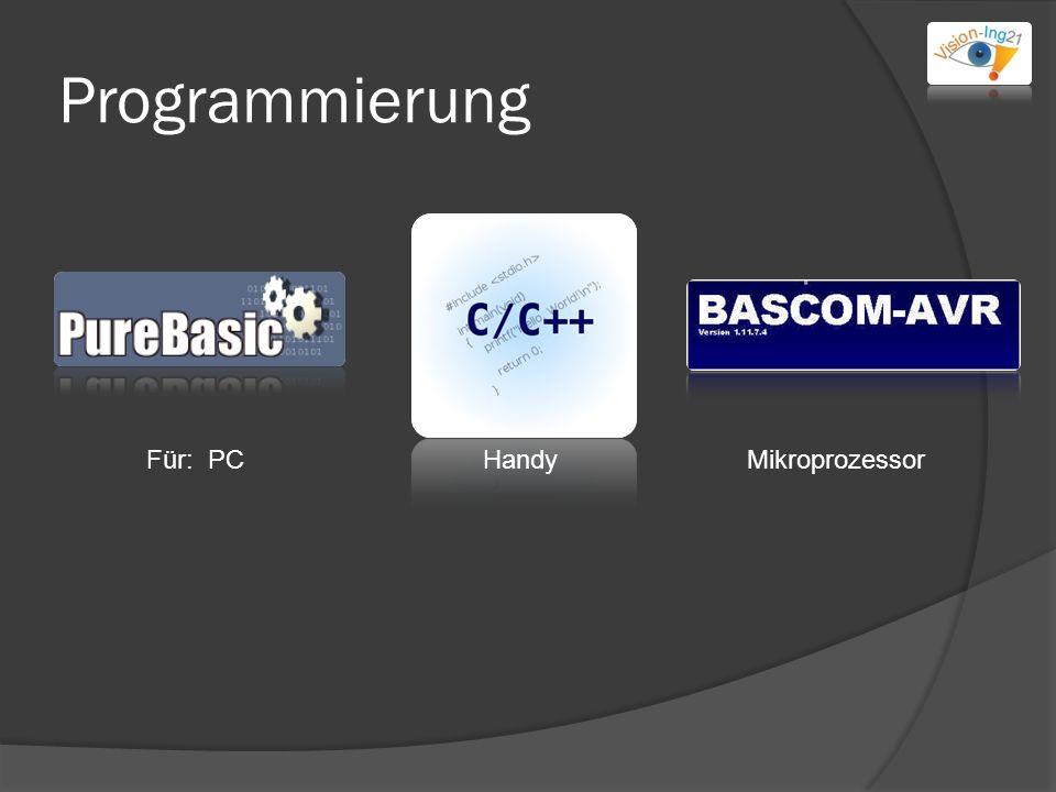 Programmierung Für: PCHandyMikroprozessor