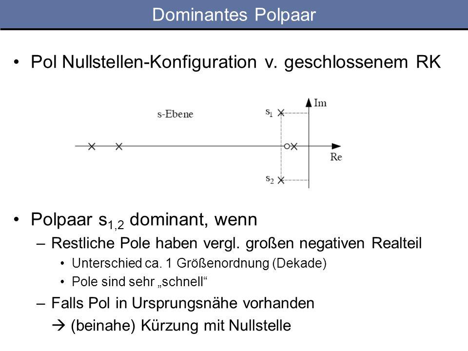 Dominantes Polpaar Pol Nullstellen-Konfiguration v.