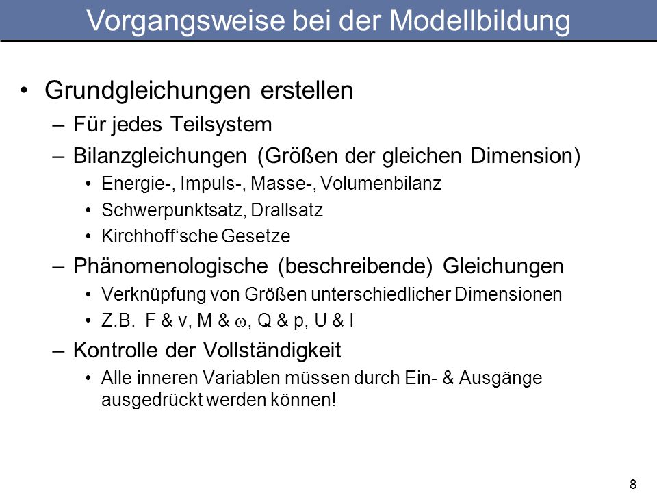 19 Aufgabe 3: Hängende Last, Getriebewelle Aufgaben: Systemauftrennung Systemgleichungen Eingangs-/Ausgangs-DGL von M auf y