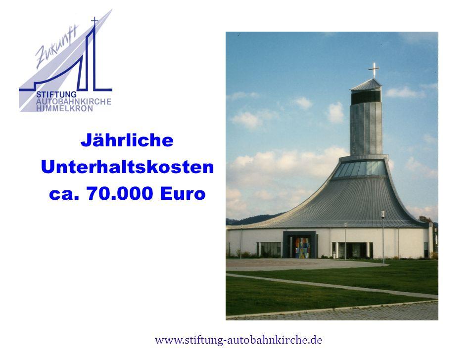 www.stiftung-autobahnkirche.de Jährliche Unterhaltskosten ca. 70.000 Euro