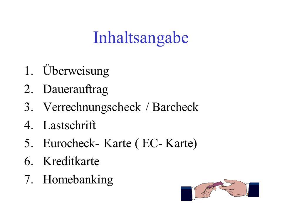 Bargeldlose Zahlungsformen Von Patrick Köhler Klasse 10 Der Adolf- Diesterweg- Schule Schuljahr 2002 / 2003