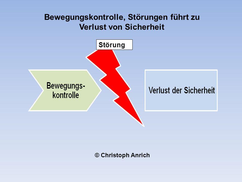 Störung Bewegungskontrolle, Störungen führt zu Verlust von Sicherheit © Christoph Anrich