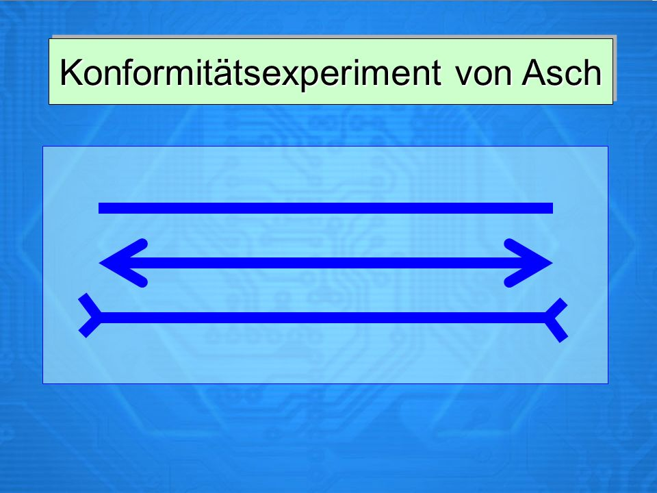 Konformitätsexperiment von Asch
