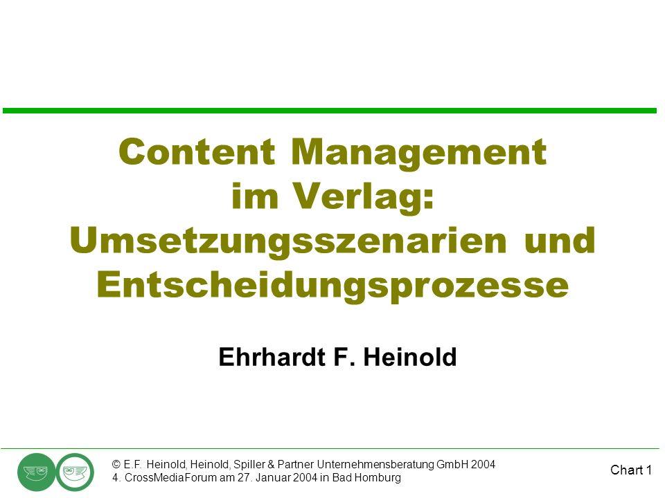Chart 1 © E.F. Heinold, Heinold, Spiller & Partner Unternehmensberatung GmbH 2004 4.