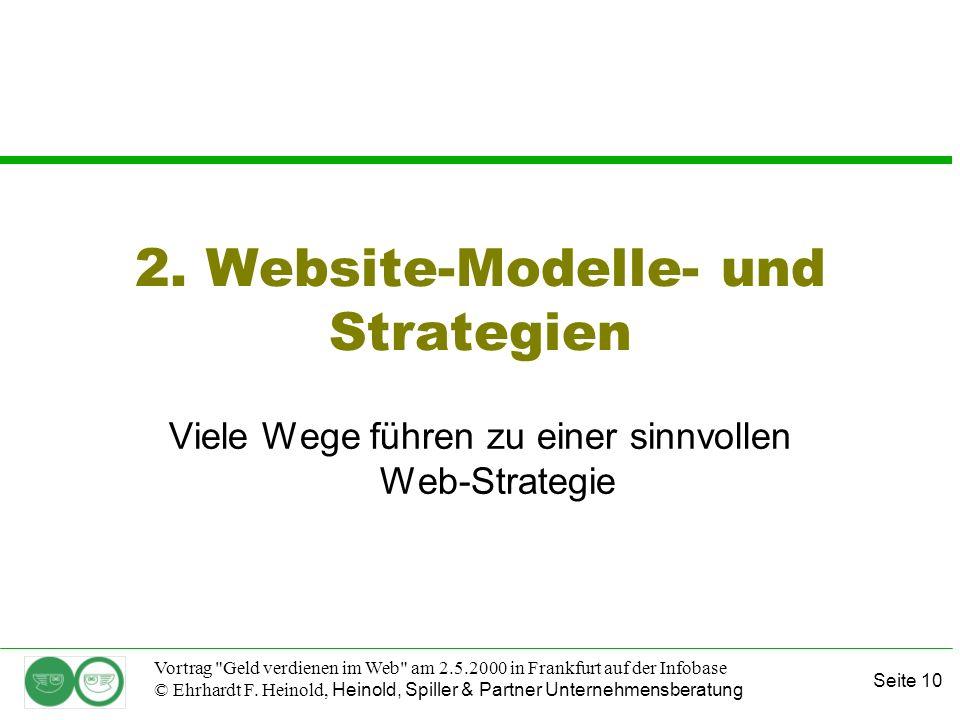 Seite 10 Vortrag Geld verdienen im Web am 2.5.2000 in Frankfurt auf der Infobase © Ehrhardt F.