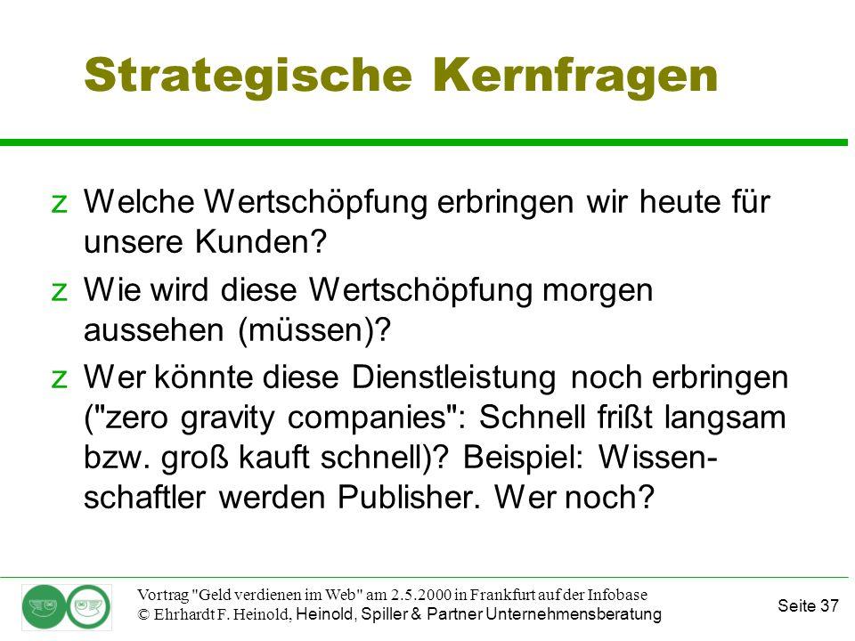 Seite 37 Vortrag Geld verdienen im Web am 2.5.2000 in Frankfurt auf der Infobase © Ehrhardt F.