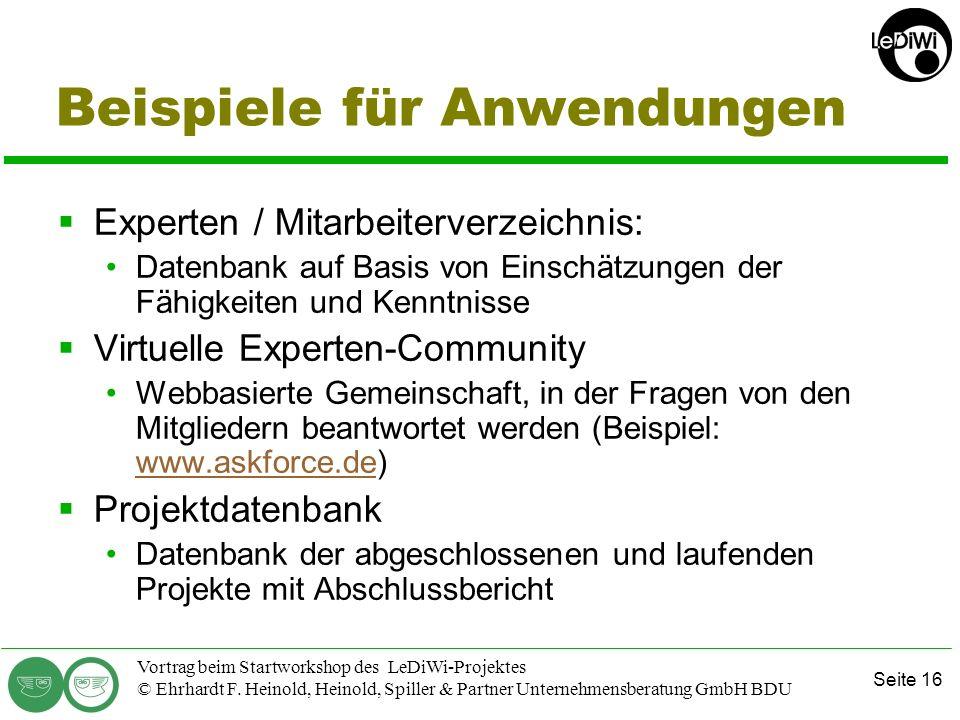 Seite 15 Vortrag beim Startworkshop des LeDiWi-Projektes © Ehrhardt F. Heinold, Heinold, Spiller & Partner Unternehmensberatung GmbH BDU Trend: Indivi