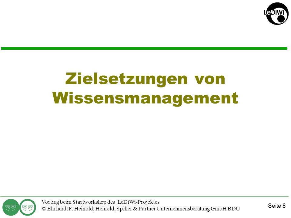Seite 7 Vortrag beim Startworkshop des LeDiWi-Projektes © Ehrhardt F. Heinold, Heinold, Spiller & Partner Unternehmensberatung GmbH BDU Firmen vor dem